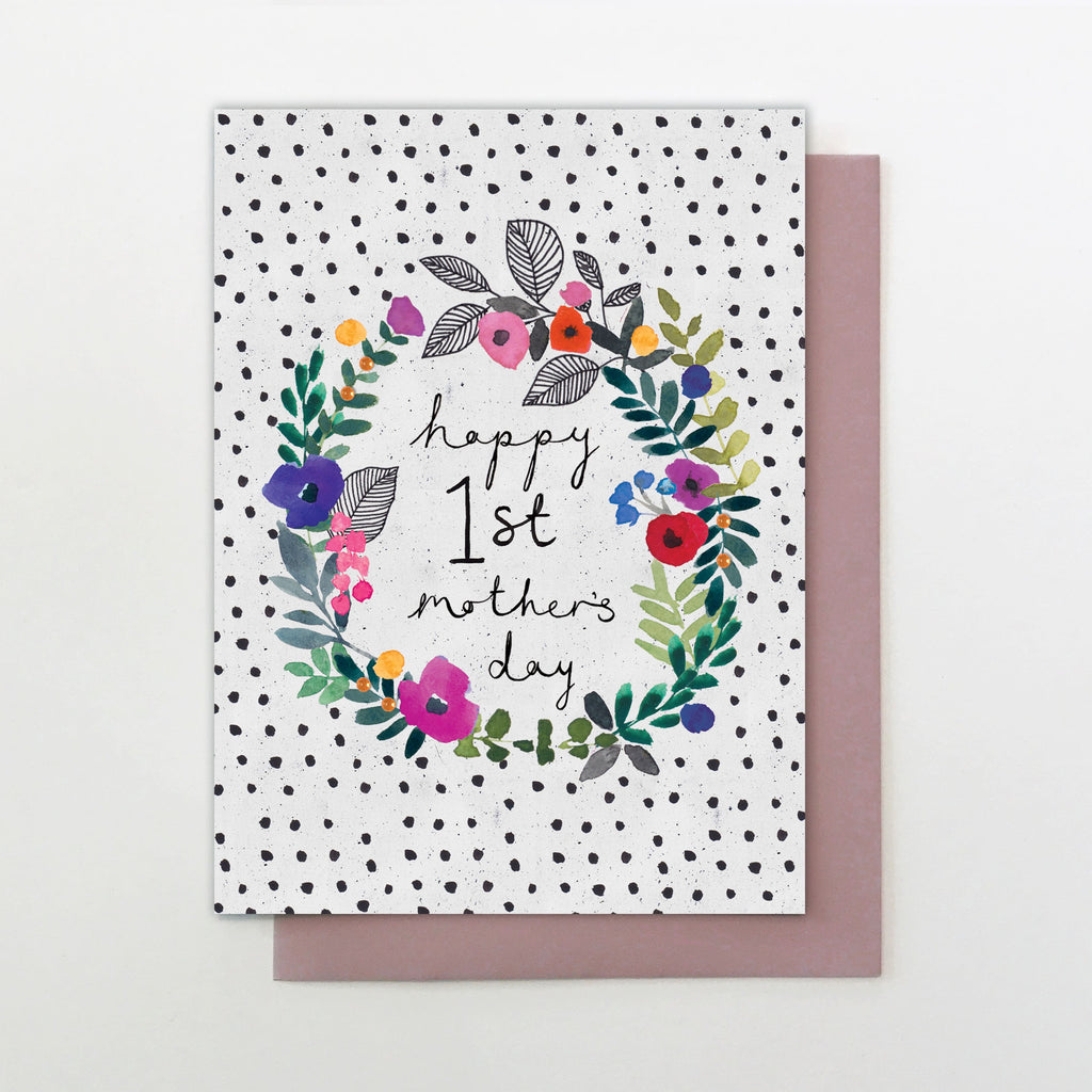 Floral Happy 1st Mother's Day Card