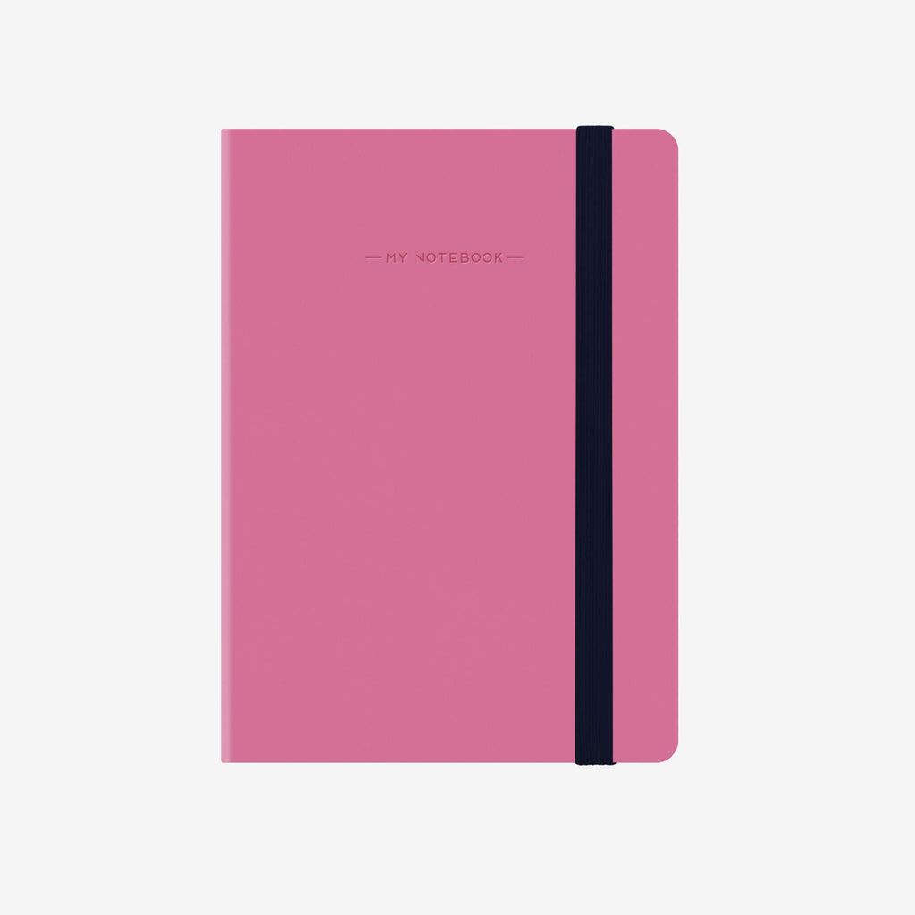 Small Lined Magenta Notebook