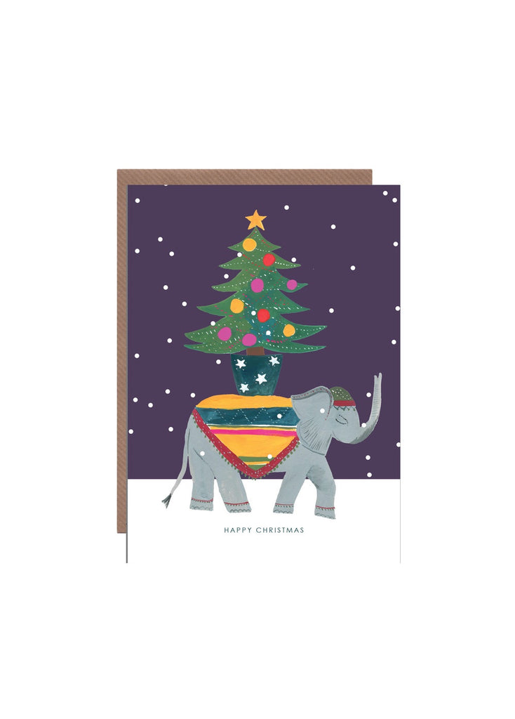 Elephant Christmas Card
