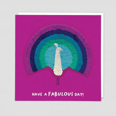 Have A Fabulous Day Sequin Patch Card