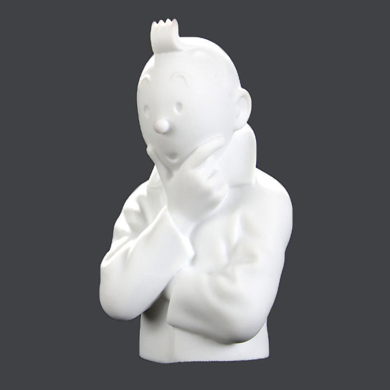 Tintin Thinking Limited Edition Porcelain Bust in Matte