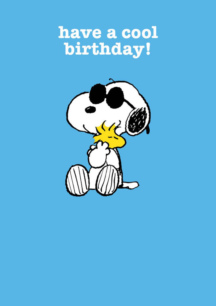 Have a Cool Birthday Snoopy Card