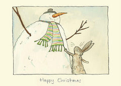 Happy Christmas Snowman Card