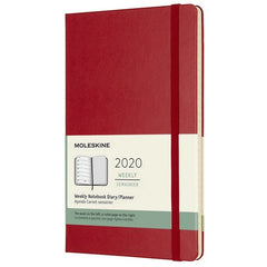 Moleskine Weekly Diary Large Scarlet Red Hard Cover