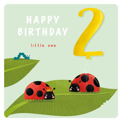 Age 2 Happy Birthday Little one Ladybird Card