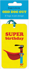 Odd Dog Out Birthday Gift Tags Pack of 8