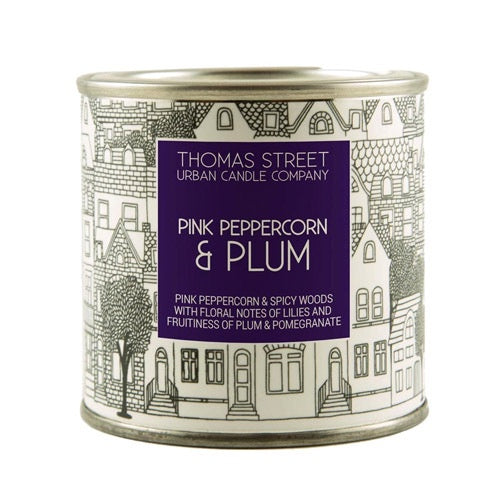Pink Peppercorn And Plum Thomas Street Candle Tin
