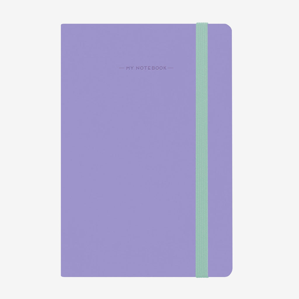 Medium Squared Liliac Notebook