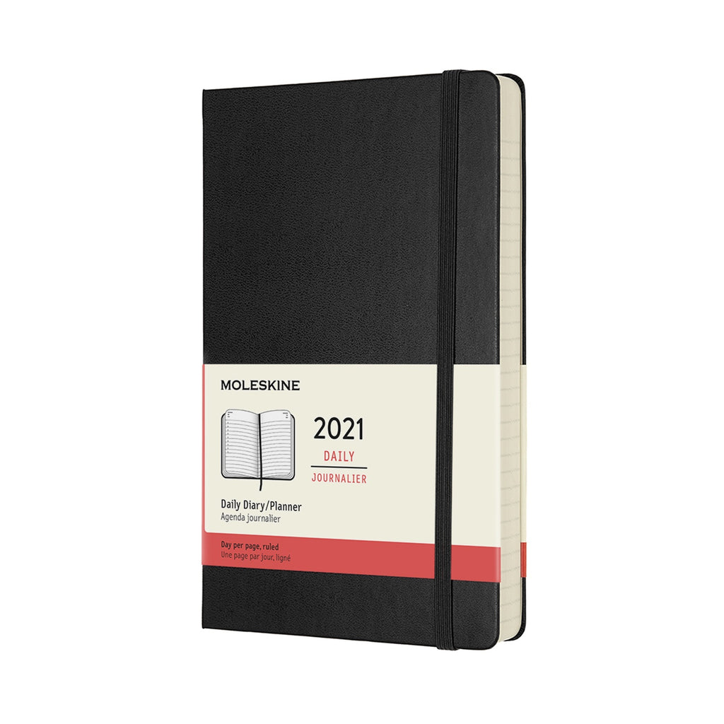 Moleskine 2021 Large Daily Planner Hardcover Black