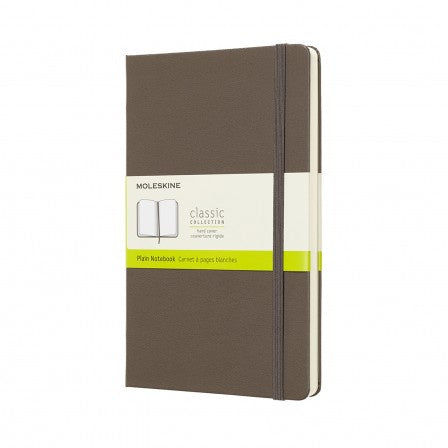Moleskine Large Plain Notebook Earth Brown