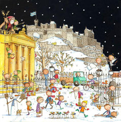 A View Of Edinburgh Castle From The Mound Pack of 6 Christmas Cards