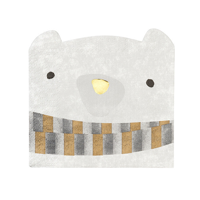Nordic Christmas Bear Napkin Pack of 16