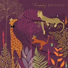 Happy Birthday Jungle Royalty Card