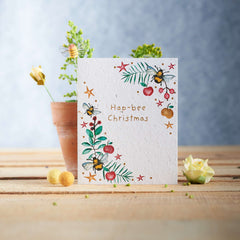 Hap-Bee Christmas Gift Seed Card