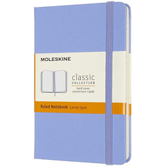 Moleskine Pocket Hardback Ruled Notebook Hydrangea Blue