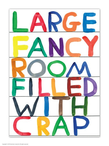 Large Fancy Room Postcard