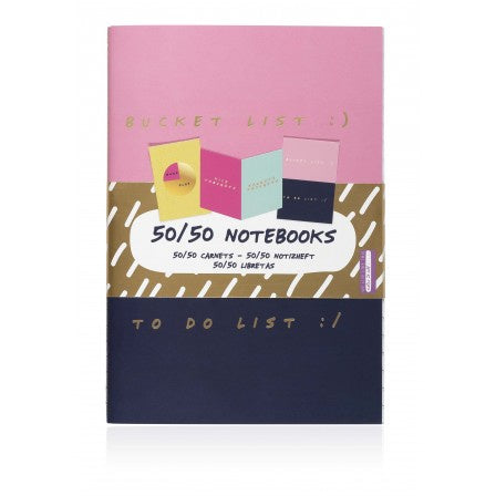 Notes To Self Set of 3 50/50 Notebooks