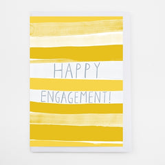 Happy Engagement Stripes Card
