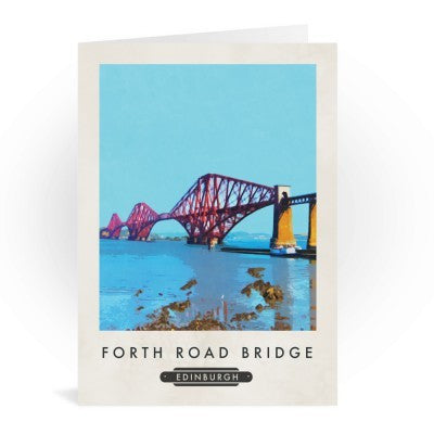 Forth Bridge Railway Poster Style Card