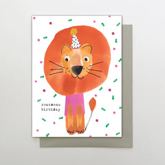 Roarsome Birthday Big Lion Card