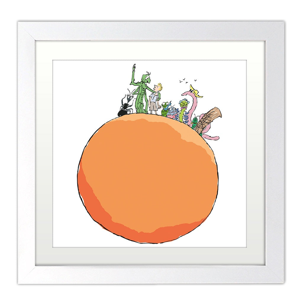James and the Giant Peach Mounted Print