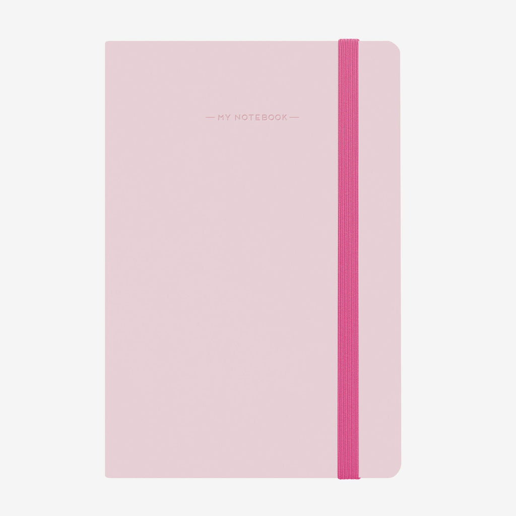 Medium Baby Pink Lined Notebook
