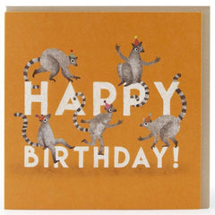 Happy Birthday Lemurs Card