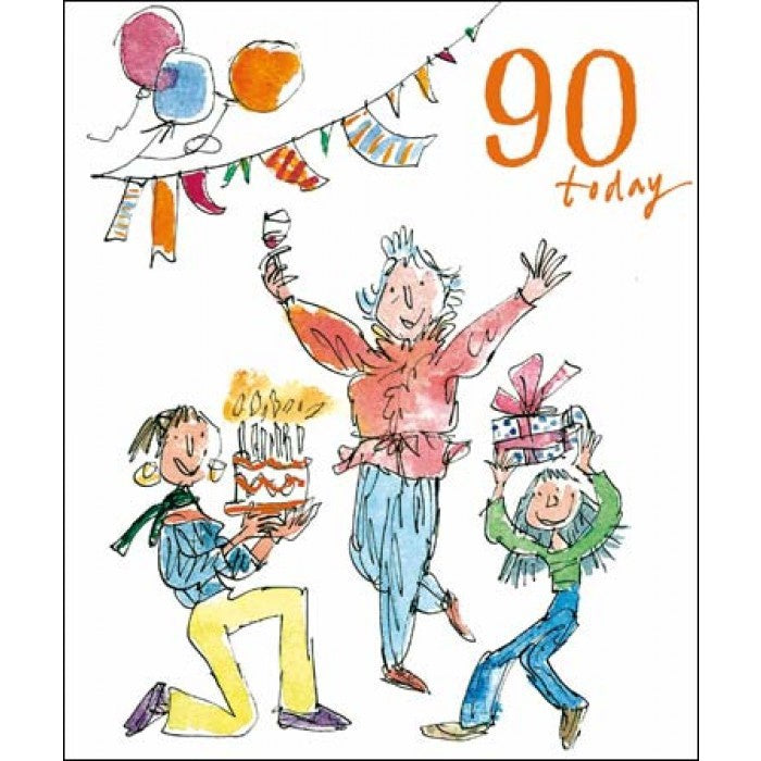 90 Today Quentin Blake Birthday Card for her