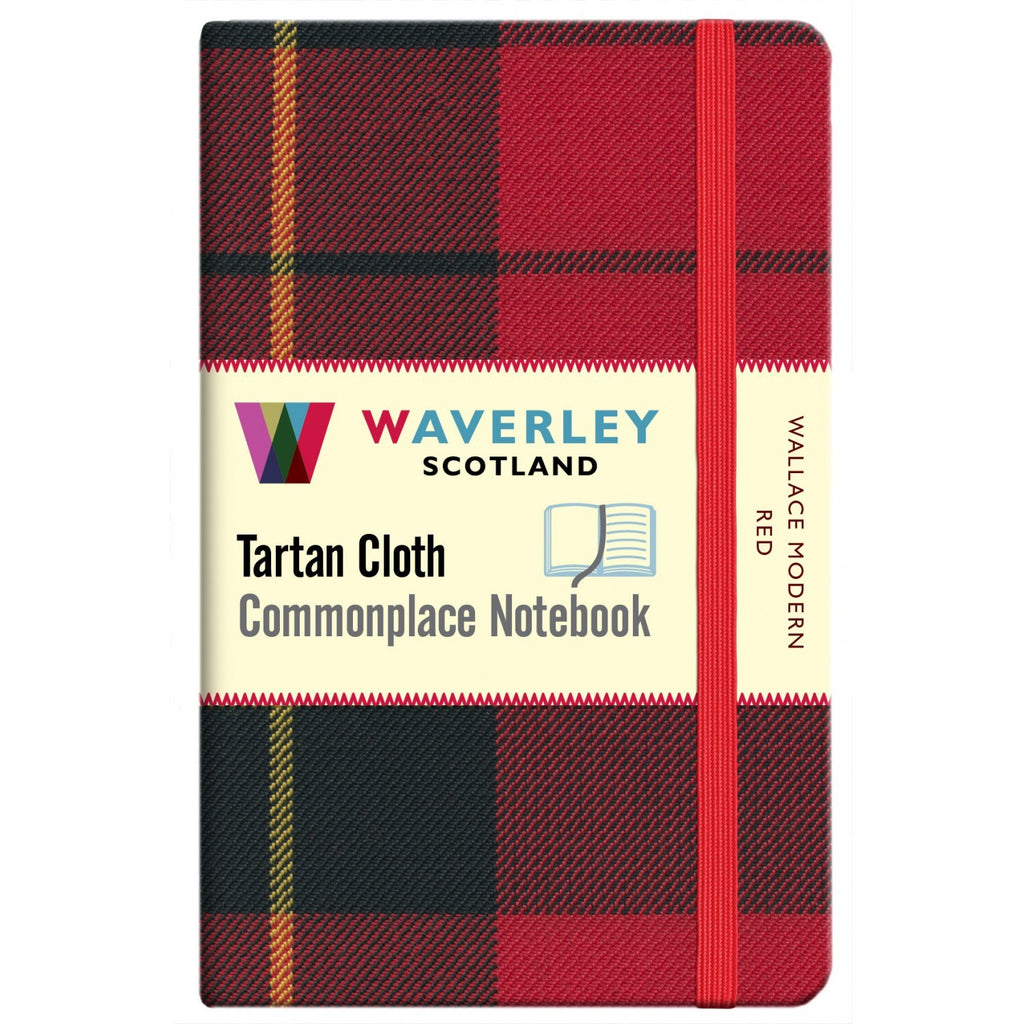 Tartan Cloth Notebook - Wallace Modern Red