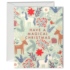 Magical Christmas Pattern Mini Pack of 5 Cards