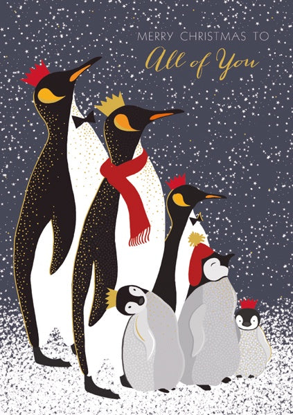 Family of Penguins To All of You Christmas Card