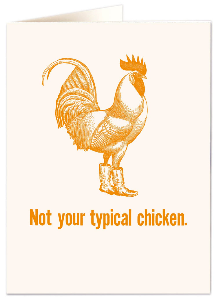 Not Your Typical Chicken Letterpress Card
