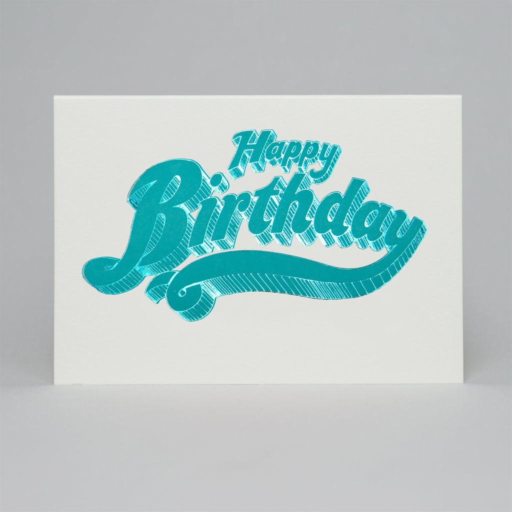 Blue Happy Birthday Fairground Card