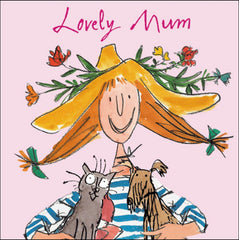 Quentin Blake Lovely Mum Mother's Day Card