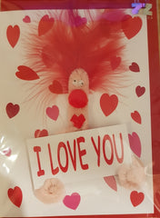 Puffy I Love You Valentine's Day Card