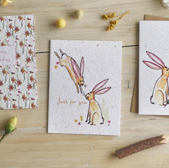 Just For You Bunnies Seed Card