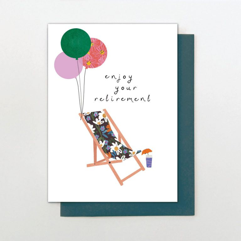 Enjoy Your Retirement Deckchair Card