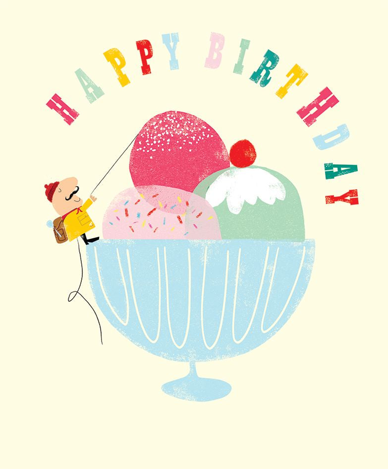 Happy Birthday Climbing Icecream Card