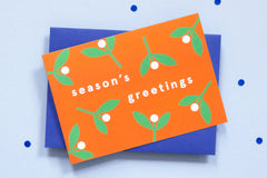Season's Greetings Pack of 6 Christmas Cards