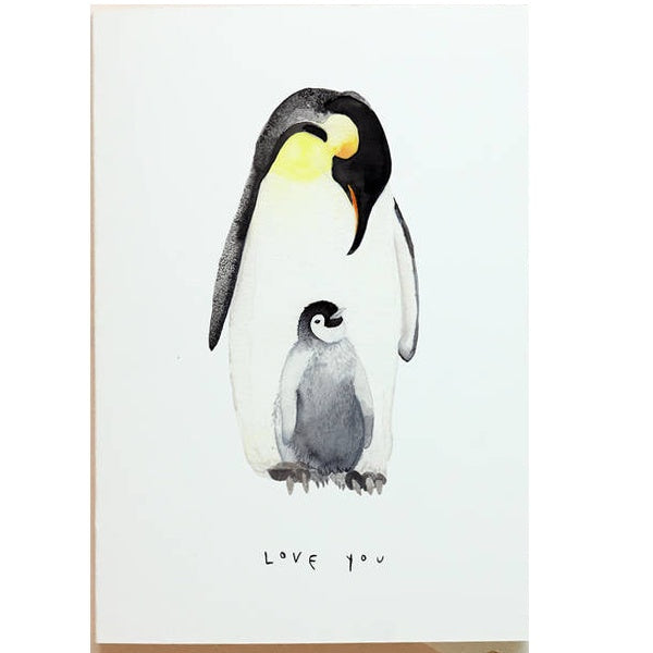 Emperor Penguin Love You Mothers Day Card