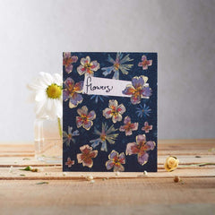 Larkspur Flowers Seed Card