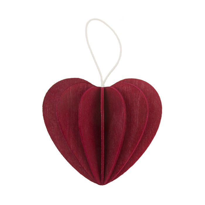 Lovi Dark Red Heart 6.8cm