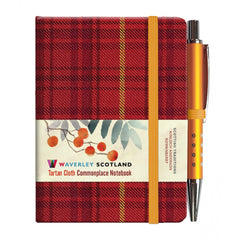 Mini Tartan Notebook with Pen - Rowanberry