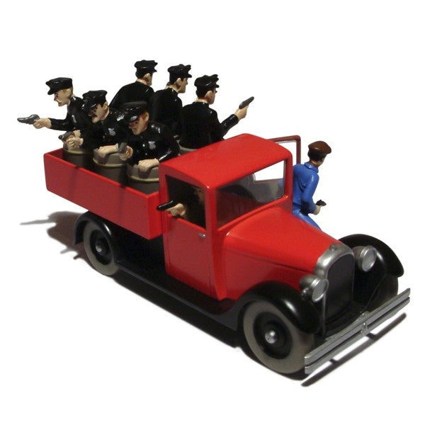 Tintin Red Police Truck
