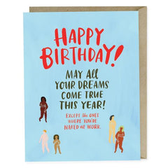 Naked Day At Work Happy Birthday Card