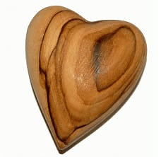 Olive Wood Heart Assorted