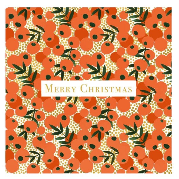 Orange Berries Christmas Card Box