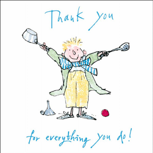 Thank You For Everything You Do Quentin Blake Card