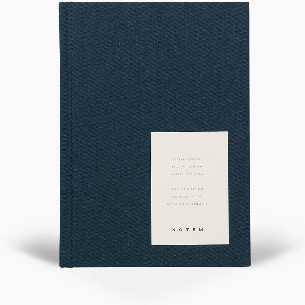 Even Dusty Blue Hardcover Weekly Journal by Notem
