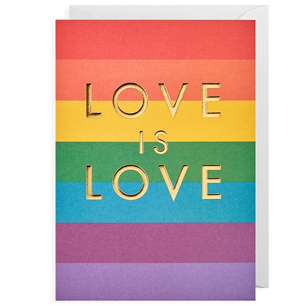 Love Is Love Rainbow Card